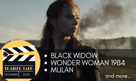 Cinematic Doctrine Christian Movie Podcast talks movie trailers Black Widow Wonder Woman 1984 Mulan