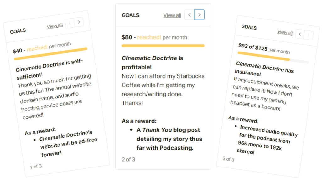 Cinematic Doctrine, the Christian movie podcast, has reached multiple Patreon goals!