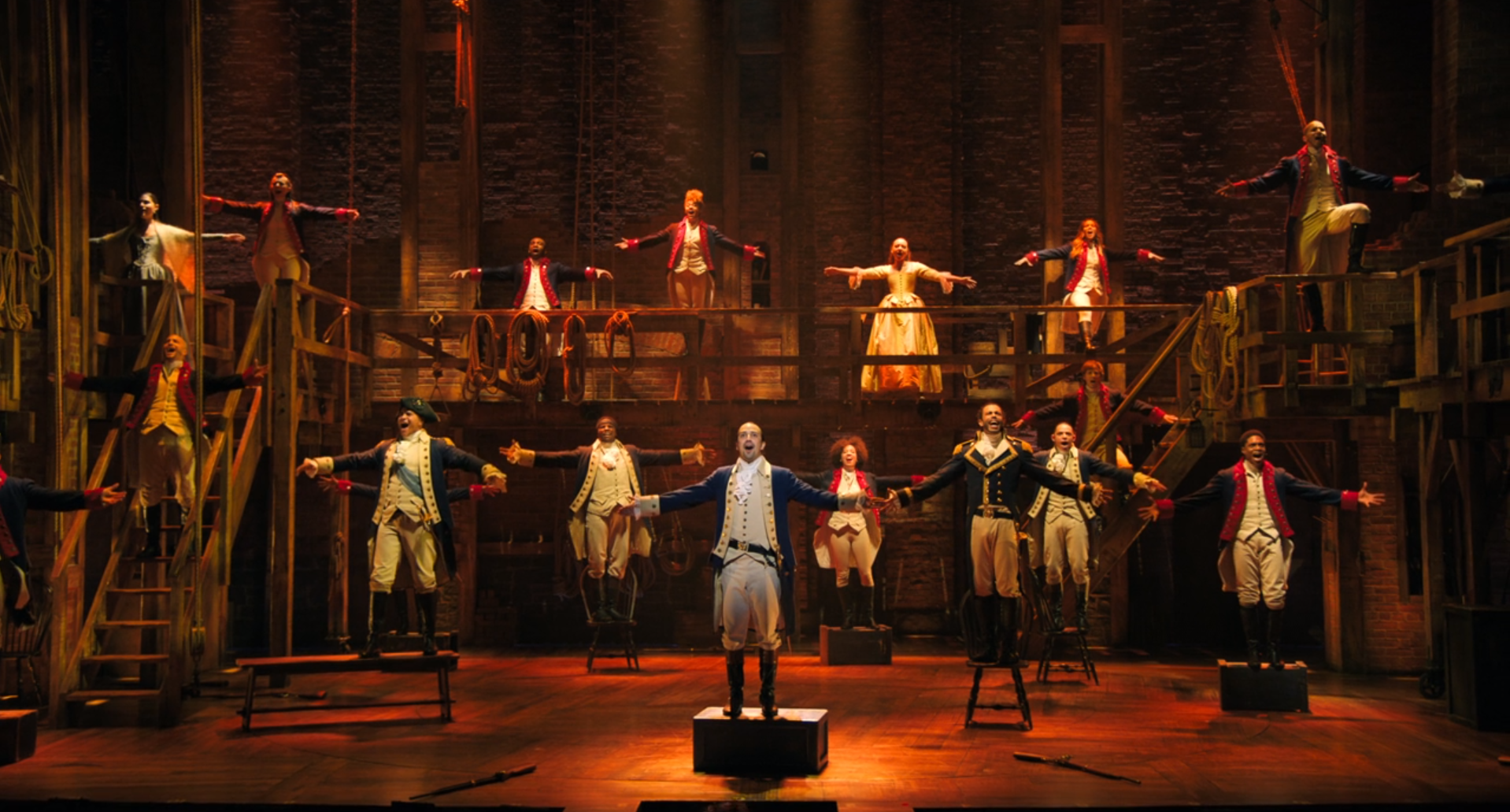 Hamilton musical cast on Disney Plus discussed on the Christian Movie Podcast Cinematic Doctrine with Truce Chris Staron