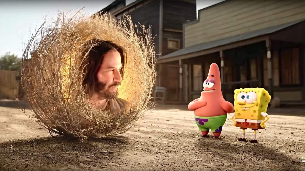 Christian Podcast Cinematic Doctrine talks Spongebob Squarepants release to Video on Demand with Keanu Reeves