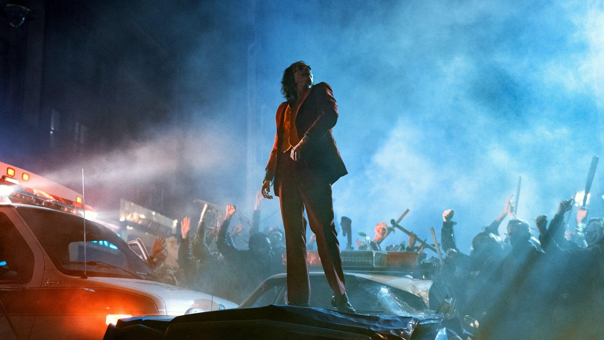 Joaquin Phoenix as Joker during DC Fandome Cinematic Doctrine Podcast