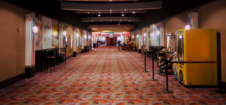 Empty Movie Theater during Covid-19 Coronavirus pandemic Christian Podcast Cinematic Doctrine CINDOC
