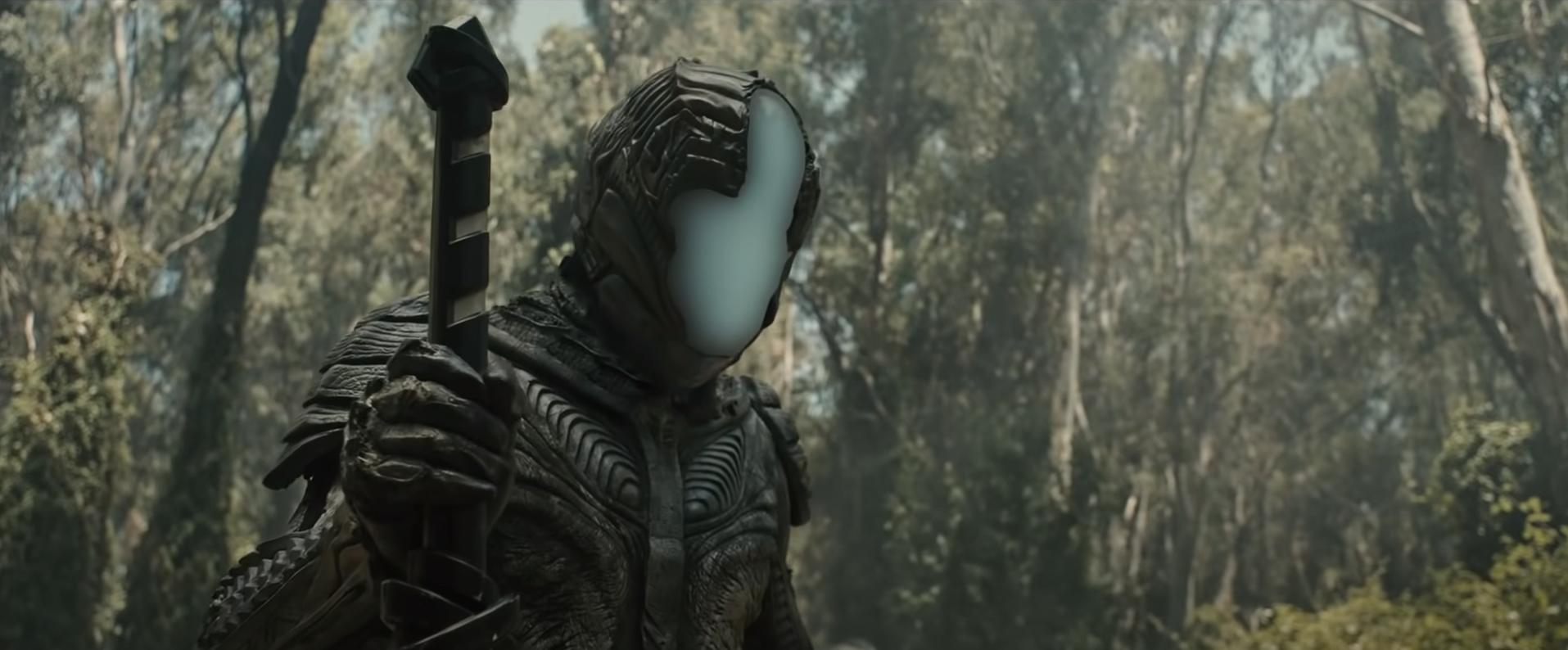 Alien Ninja Warrior in Nicolas Cage Jiu Jitsu movie trailer on Cinematic Doctrine Christian Podcast