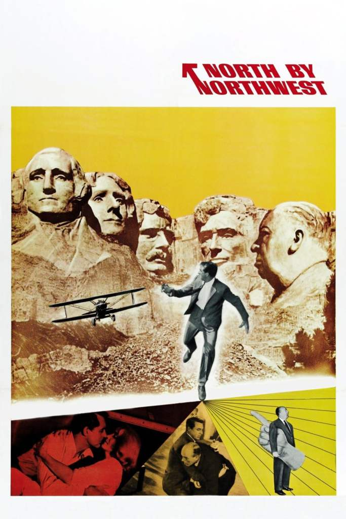 North by Northwest cover Alfred Hitchcock favorite movie of Carter Bennett Cinematic Doctrine