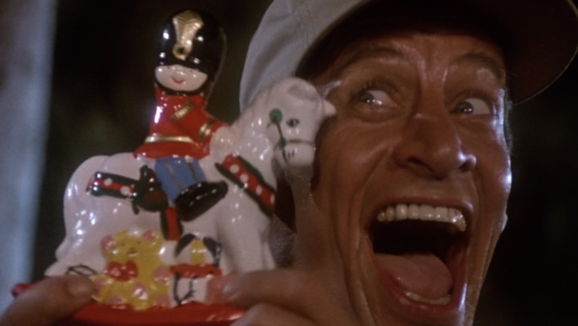 Jim Varney in Holiday movie Ernest Saves Christmas on Christian Podcast Cinematic Doctrine and Truce