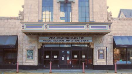 Closed Movie Theater during COVID-19 Coronavirus Pandemic