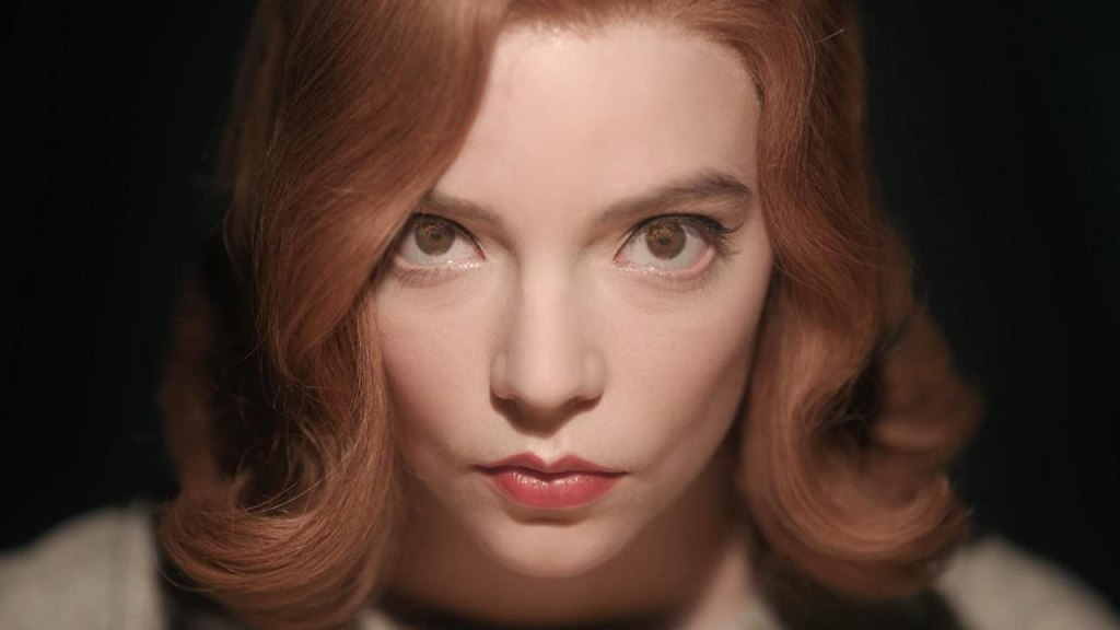 Anya Taylor Joy as Beth Harmon in Netflix Queen's Gambit on Christian Movie Podcast Cinematic Doctrine