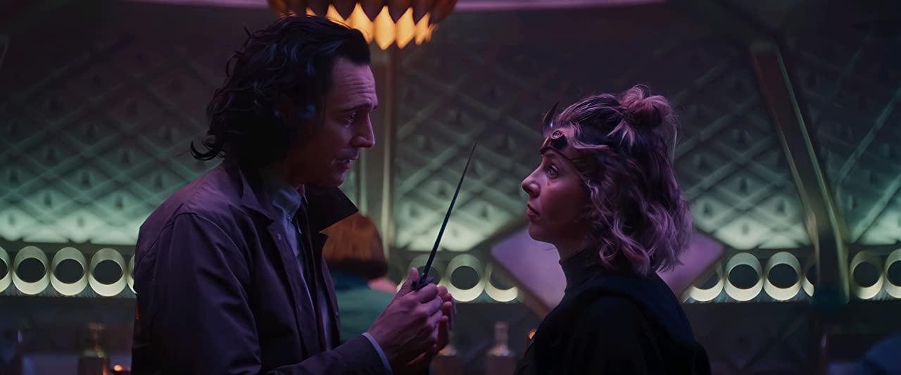 Tom Hiddleston Loki and Sophia Di Martino Sylvie in Disney Marvel show on Christian Podcast Cinematic Doctrine