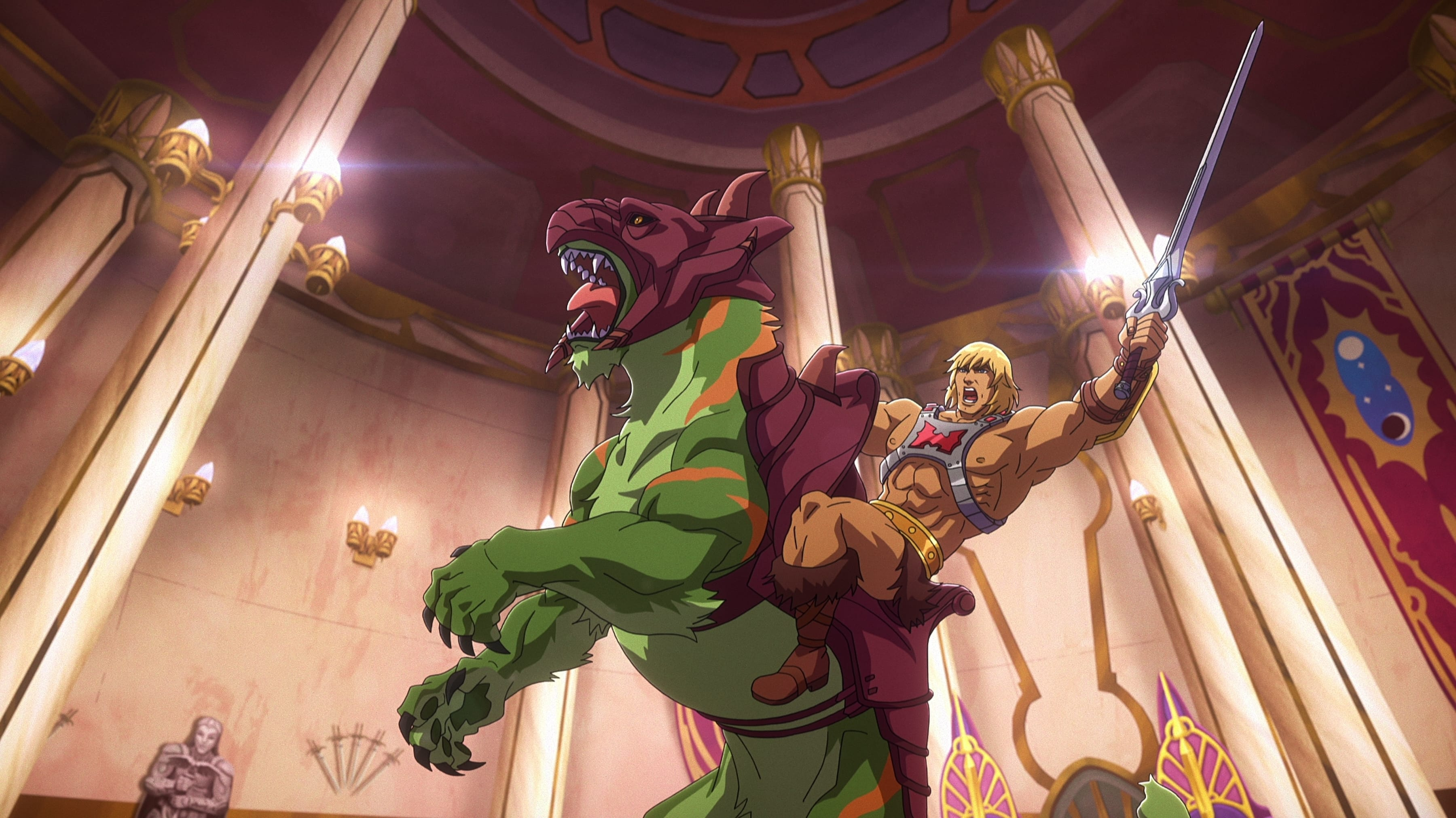 He-Man and Battle Cat in Masters of the Universe Revelation on Netflix