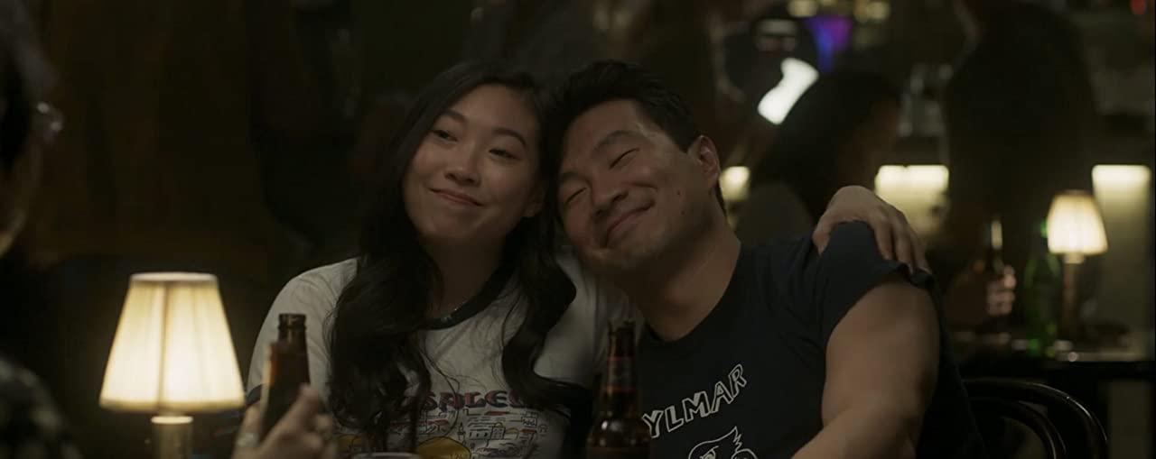Awkwafina and Simu Liu as Katy and Shang-Chi in Ten Rings by Disney Marvel