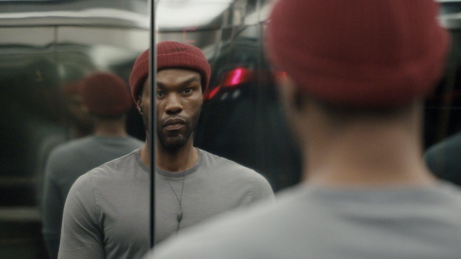 Yahya Abdul-Mateen II in Candyman 2021 Elevator Mirror